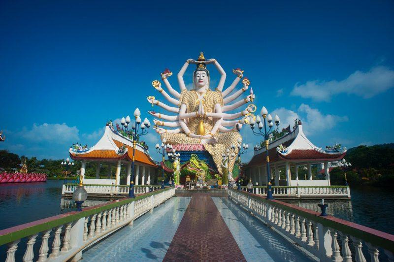 Inspect the Mega reclining Buddha at Wat Pho